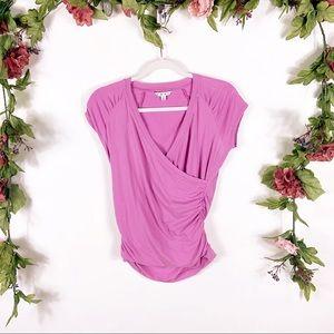 CAbi | fuschia pink hanky wrap blouse style 965